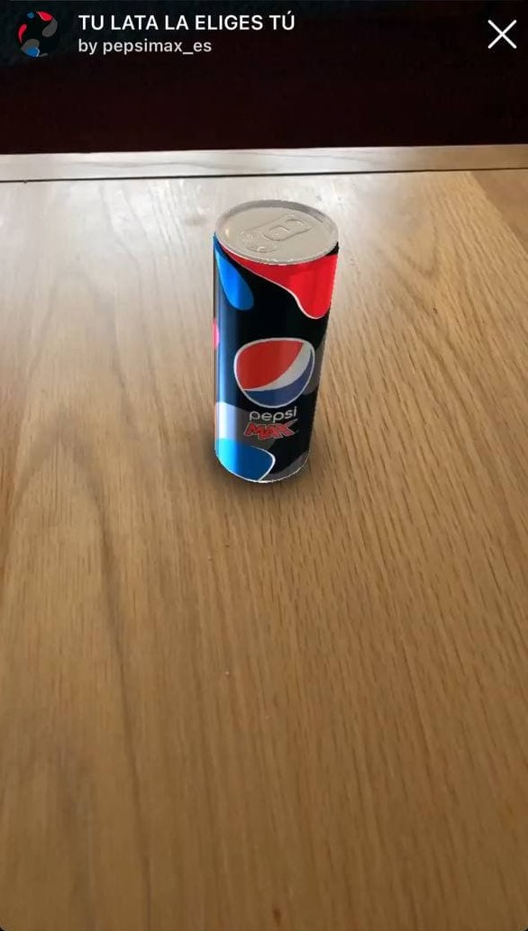 Augmented reality effect-Pepsi max ES
