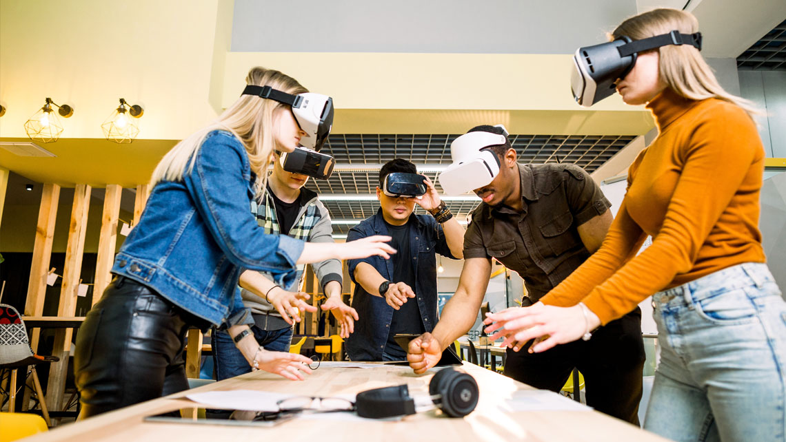 Virtual reality for team building activities and corporate entertainment