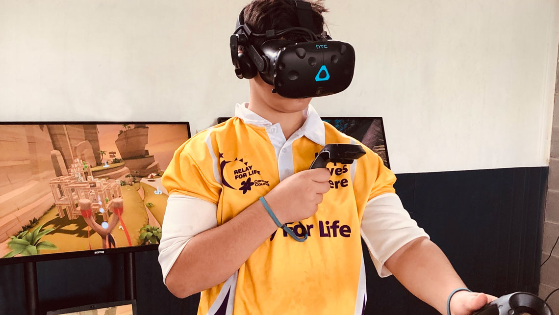 Popular virtual reality activities for a fundraising event