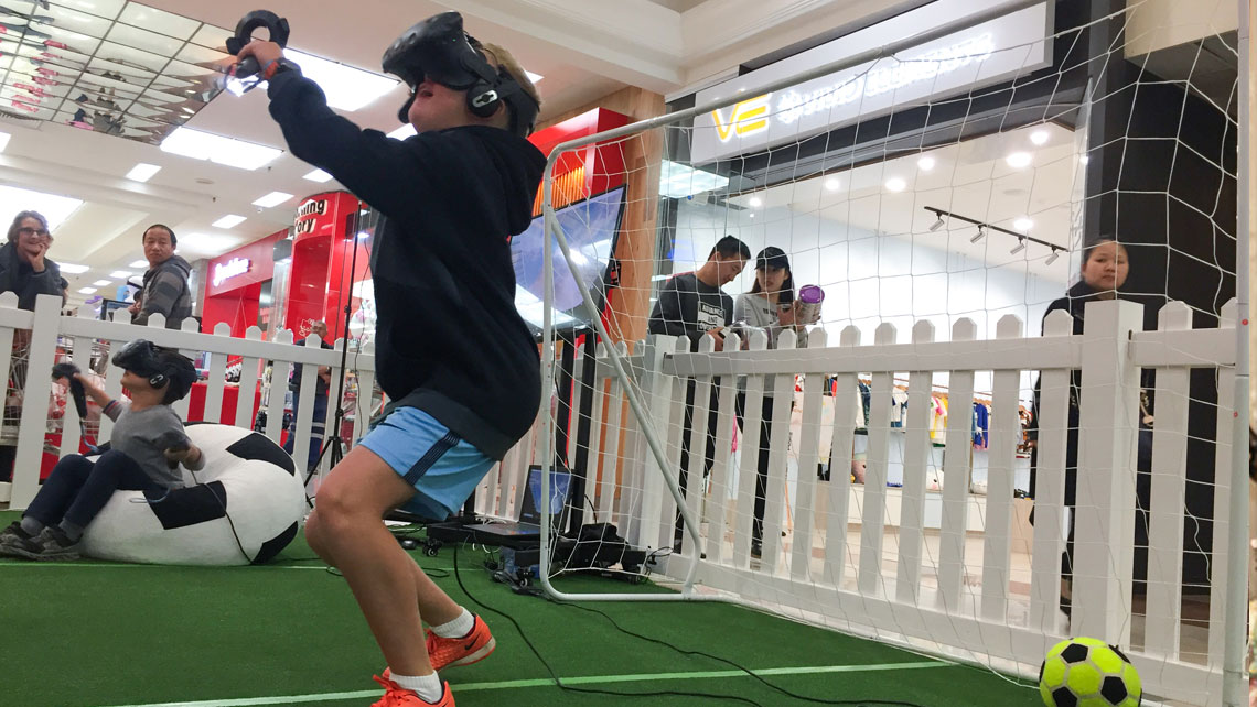 Virtual reality football (soccer) to celebrate FIFA World Cup 2018