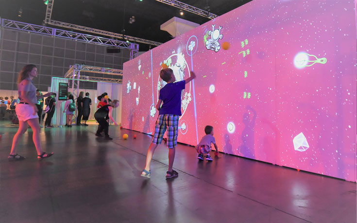 events and marketing interactive walls and floors